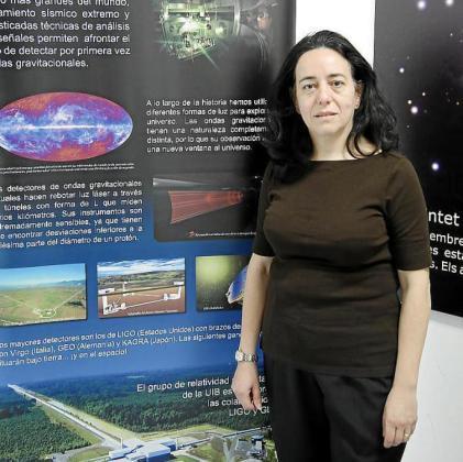 Alcia Sintes ,profesora titular del área de Física Teórica de la UIB, lidera el Grup de Relativitat i Gravitació que participa en el estudio sobre las ondas gravitacionales.