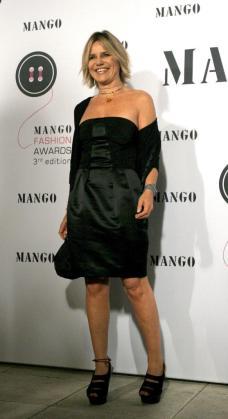 Eugenia Martínez de Irujo posa para la prensa a su llegada a la gala de entrega del Botón-Mango Fashion Award, en una imagen de archivo.