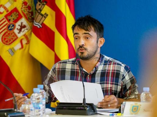 Pablo Valdés durante el pleno del Ayuntamiento de Sant Antoni.