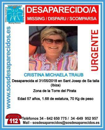 Cuatro jornadas sin rastro de la mujer alemana desaparecida en Cala d'Hort.