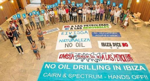 Imagen de una protesta antiprospecciones que se celebró en Ibiza.
