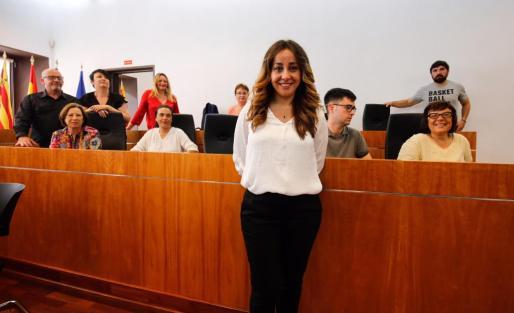 Imagen de Rosa Rubio hoy en el Ayuntamiento de Eivissa.