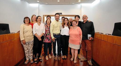 Imagen del equipo de gobierno en el Ayuntamiento de Vila.