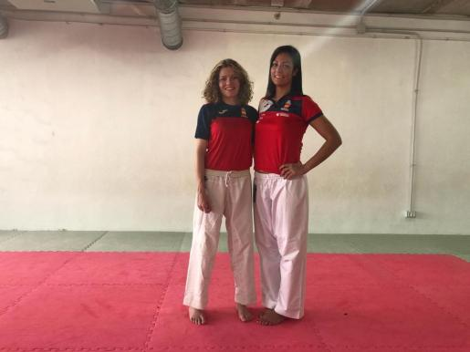 Ferrer y Vizcaíno, la semana pasada en el pabellón de Can Coix.