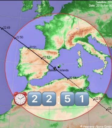 La Estación Espacial Internacional se podrá ver hoy desde Ibiza y Formentera.