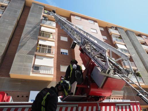 Imagen de archivo de un rescate de los bomberos en Ibiza.