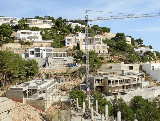 Imagen de archivo de una zona de la urbanización Roca Llisa, en Santa Eulària.