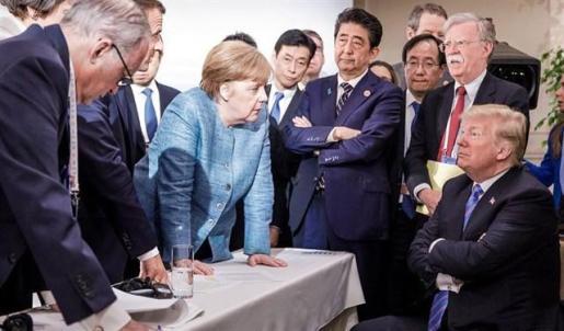 Trump reniega de la declaración conjunta del G-7 tras acusar a Trudeau de ser «deshonesto y débil».