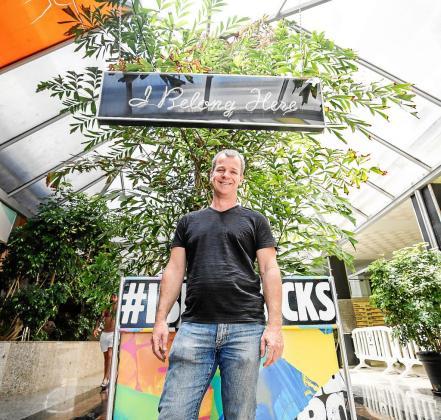 Andy McKay durante la entrevista realizada para Periódico de Ibiza y Formentera.