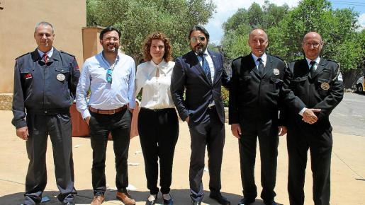 Miguel Torres, Rafel Reus, María Rosa Sánchez, Carlos Botán, Julián Nieto y Carlos González.