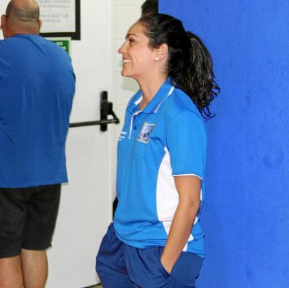 Alicia González, antes de un entrenamiento del Instalaciones Jaime Serra Gasifred en el pabellón de es Pratet.
