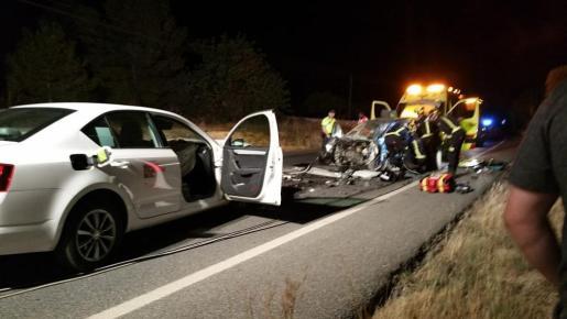 Imagen del impacto en la carretera de Sant Josep.
