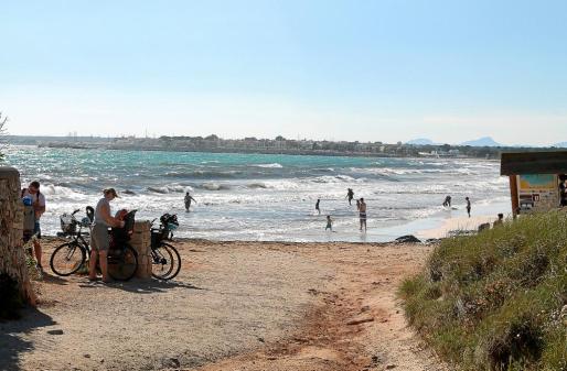 Imagen del miércoles en ses Covetes, una de las playas de arena más valoradas de Mallorca.