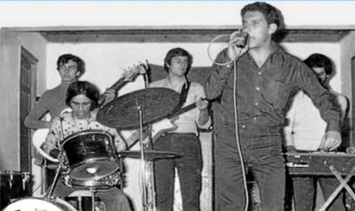 Imagen del grupo Los Diana cuando estaba compuesto por Juan Torres, Pepe Tur, Gamba, Joan Ferrer, Lluís Tito Zornoza y Narciso Torres Riera, autor de la canción 'Safaus'.