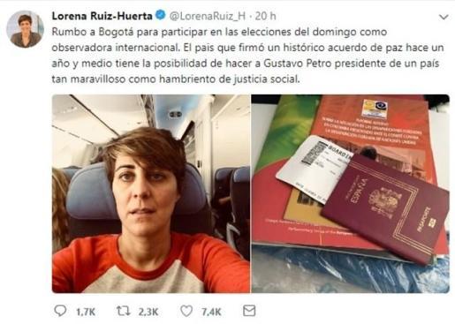 Colombia abre expediente a Ruiz-Huerta y podrían prohibirle entrar al país cinco años.