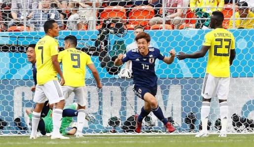 Colombia se condena en su debut ante Japón.