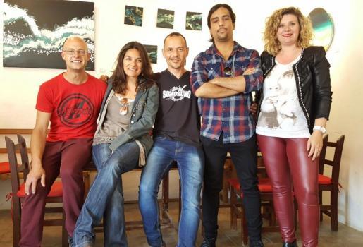 Imagen de la ejecutiva de la asociación de músicos de Ibiza.