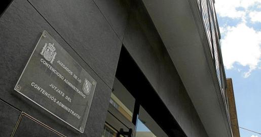 Imagen de los juzgados de lo Contencioso en su sede junto a los juzgados de Via Alemania.