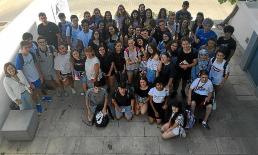 Los alumnos participantes en esta segunda edición ayer por la mañana en Can Jeroni, Sant Josep.