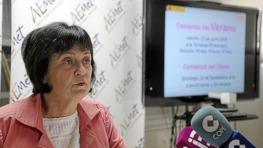 La delegada de la Aemet, María José Guerrero.