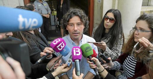 Jaume Garau después de declarar ante el juez el pasado mes de abril.