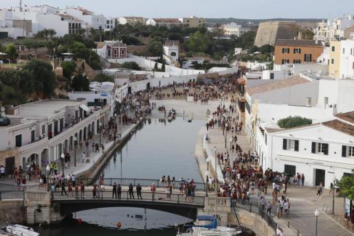 Vista general del puerto de Ciutadella.
