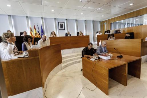 Imagen de hoy del pleno del Consell d'Eivissa.