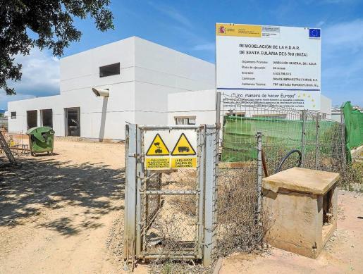 Las obras de remodelación de la depuradora de Santa Eulària empezaron en diciembre de 2016.