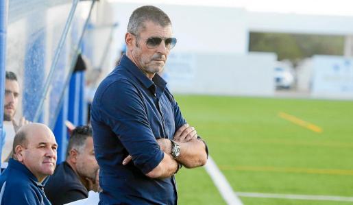 Imagen de archivo de Vicente Román durante un partido de liga del San Rafael.