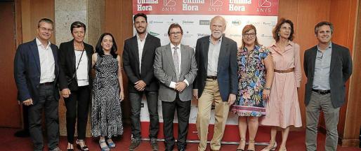 Juan José Montaño, Carmen Serra, Alícia Sintes, Javier Santaolalla, Llorenç Huguet, Barry Barish, Bel Busquets, Carmen Planas y Pedro Rullán.