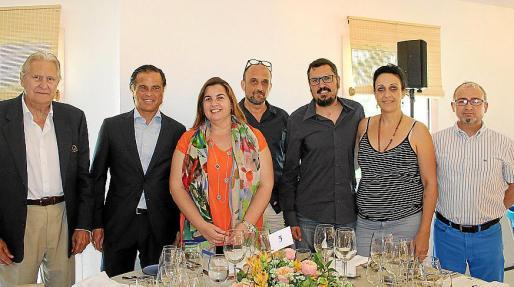 Pep Sans, Rodrigo Mascaró, María Tugores, Oswaldo Llandres, José Cortés, María Salinas y Sebastián Grimalt.