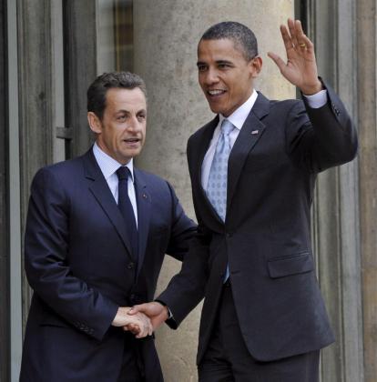 El presidente francés Nicolas Sarkozy (izda), y Barack Obama (dcha).