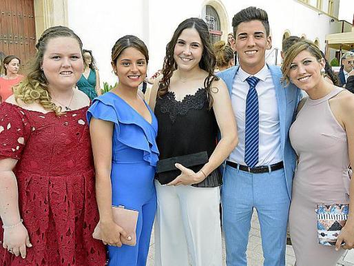 Ashley Orellana, Irene Càrceles, Cinzia Zizzo, Mario Cano y Margalida Fuster.