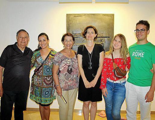 Francisco Aldana, Alexandra y Aleida Aldana, Vicenta Valenciano, Esther Serra Valenciano y Manuel Muñoz.