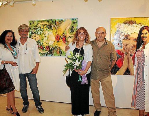 Monica Motta, Carlos Quintana , Sandra Renzi, Juan Antonio Montañez y Marga Mora.