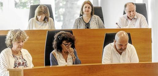 Bancada del PP en el Consell d'Eivissa.