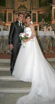 Fotografía facilitada por el ciclista Alberto Contador de la ceremonia de su boda con Macarena Pescador.