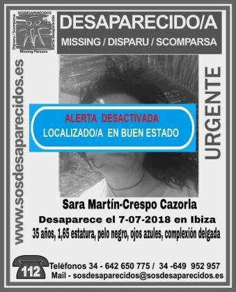 Localizada en «buen estado» la joven de 35 desaparecida hace una semana en Ibiza.