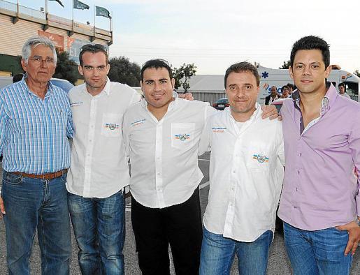 Jaume Coll, David Sánchez, Manu Blanco, Tomás Gómez y Eduardo Luna.