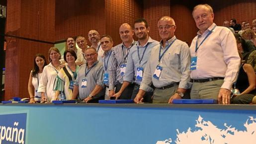 Imagen de la comitiva popular ibicenca que viajó para participar en el congreso del PP.