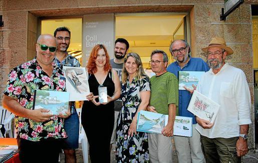 Rafel Vaquer, Guillem March, Laura Durán, Pepmi Garau, la directora de la Fundació Coll Bardolet, Amanda Corral; Pere Joan, Tatum y Feliu Renom.