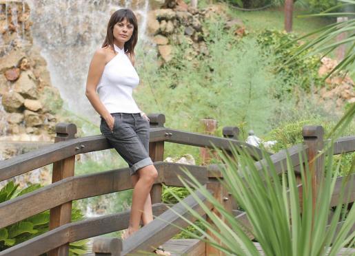 María José Suárez en Mallorca disfrutando de unas vacaciones.