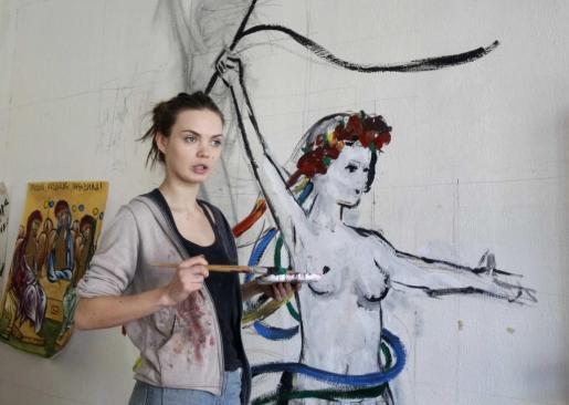 Oksana Shachko, activista cofundadora del movimiento Femen en una imagen de archivo.