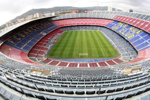 Imagen del Camp Nou, estadio del F.C. Barcelona.