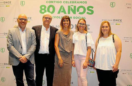 Miguel Agudo, Julio Velasco, Cristina Muñoz, Catalina Torelló y Cristina Ruedas.