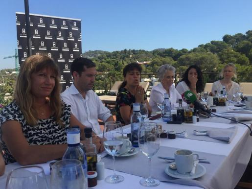 Serena Cook, William AitkenSandra Benbeniste y Frances Llopis hacen balance de los 10 años de la Ibiza Preservation Fund.