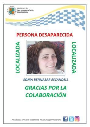 Localizada en buen estado la mujer de 37 años desaparecida el lunes en Ibiza.