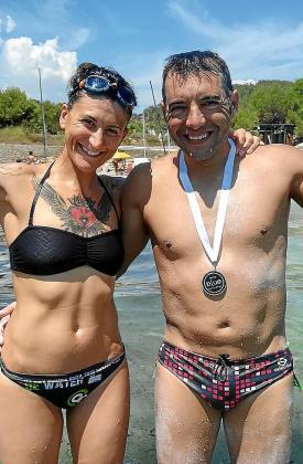 Toni Payeras, a su llegada a la playa de ses Salines.