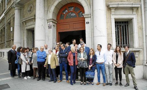 Imagen de una de las protestas de jueces y fiscales de la pasada primavera para reclamar una mayor independencia al Gobierno. La protesta incluía también una petición de mejoras en las condiciones laborales y salariales de ambas carreras.