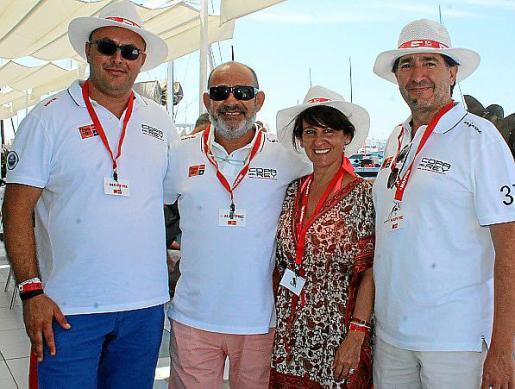Juan Carlos Enrique, Alfons Moll, Aurora García y Xavi Bonet.